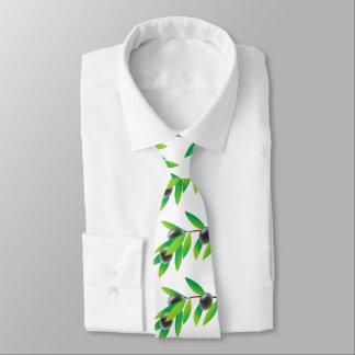 Funny healthy olive twig neck tie