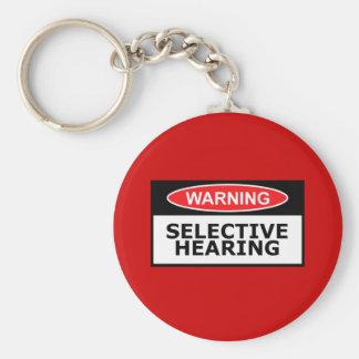 Funny hearing keychain