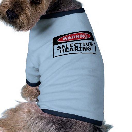 Funny hearing pet t shirt