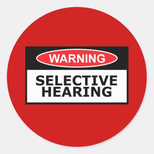 Funny hearing sticker