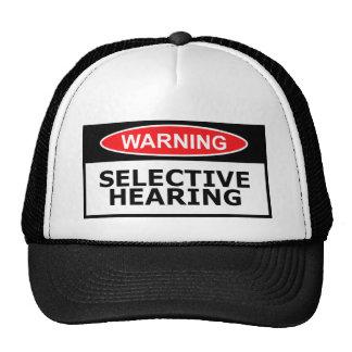 Funny hearing trucker hat