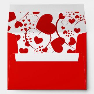 Funny Heart Pattern V + your background color Envelopes