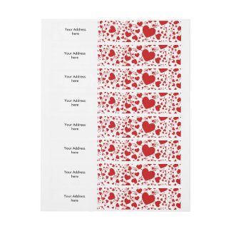 Funny Heart Pattern V + your background color Wrap Around Address Label