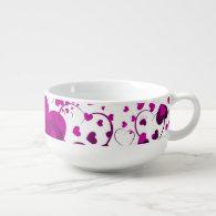 Funny Heart Pattern VI   your background color Soup Mug