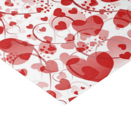 Funny Heart Pattern VII - red white + your idea Tissue Paper