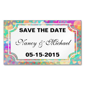 Funny Heart Pattern XI - pastel colored + ideas Magnetic Business Card