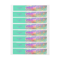 Funny Heart Pattern XI - pastel colored Wrap Around Address Label