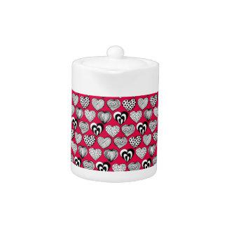 Funny Hearts Teapot