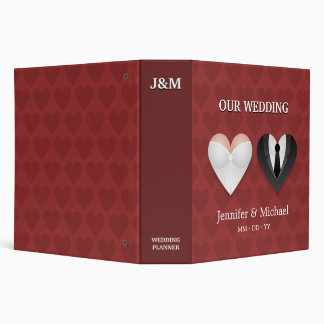 Funny Hearts - wedding planner binder