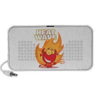 funny heat wave devil cartoon iPod speaker