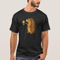 Funny Hedgehog Raising a Pint Shirt