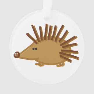 Funny Hedgehogs on White