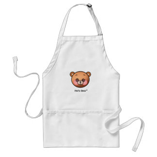 Funny Hello Bear dazzling Adult Apron