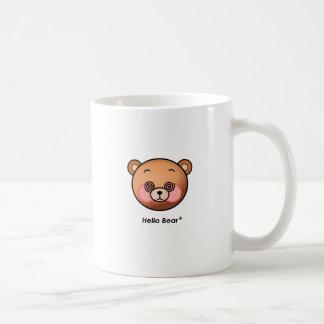 Funny Hello Bear dazzling Coffee Mugs