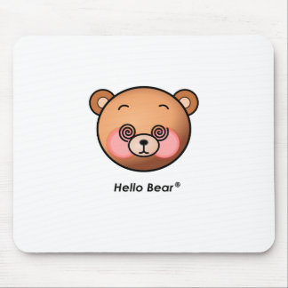 Funny Hello Bear dazzling Mouse Pad