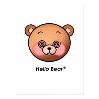 Funny Hello Bear dazzling Postcard