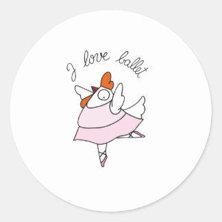 funny hen classic round sticker