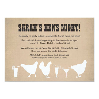 Funny Hens Night Bachelorette Party Invite