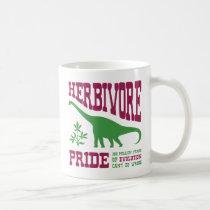 Funny Herbivore Pride Vegetarian Dinosaur Coffee Mug