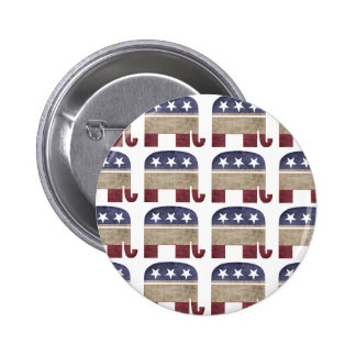 Funny Herd of Elephants Republican GOP Election Pinback Button