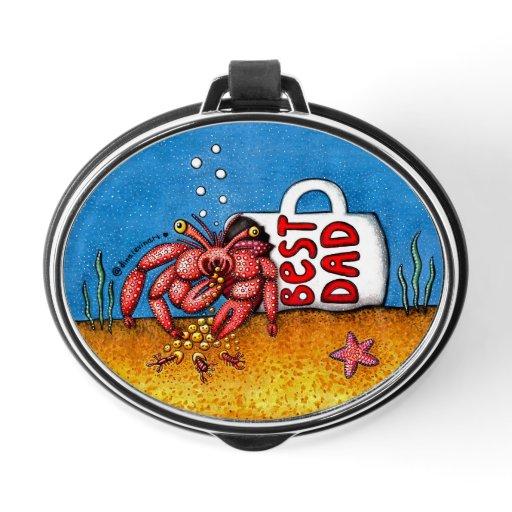 Funny Hermit Crab in Best Dad Coffee Mug Bluetooth Speaker