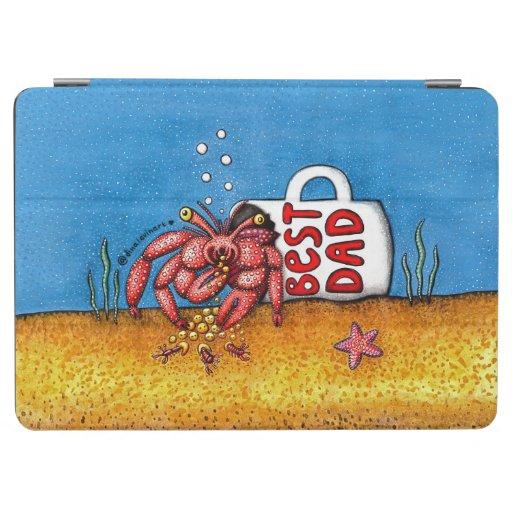 Funny Hermit Crab in Best Dad Coffee Mug iPad Air Cover