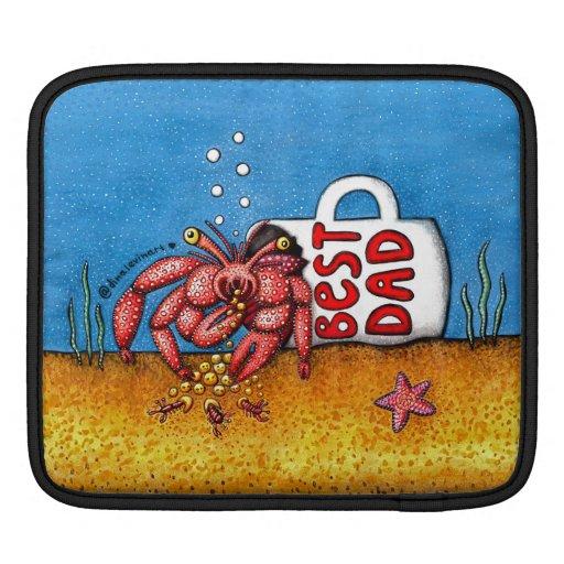 Funny Hermit Crab in Best Dad Coffee Mug iPad Sleeve