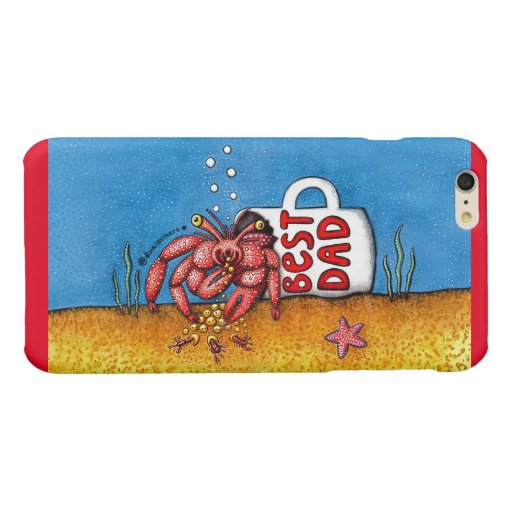 Funny Hermit Crab in Best Dad Coffee Mug Glossy iPhone 6 Plus Case