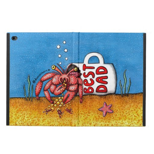 Funny Hermit Crab in Best Dad Coffee Mug Powis iPad Air 2 Case