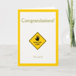 Funny 'High Fives Zone' Sign Congratulations Card