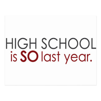 Funny High School Grad Postcard