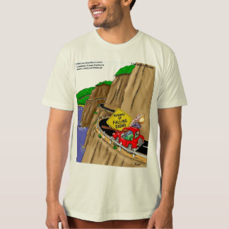 Funny Highway Signs Mens 100% Organic Cotton Tees