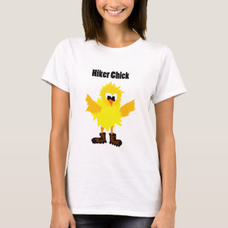 Funny Hiker Chick Cartoon T-Shirt