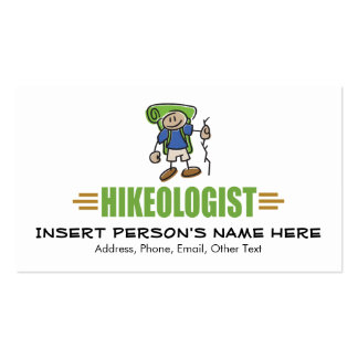 Funny Hiking Double-Sided Standard Business Cards (Pack Of 100)
