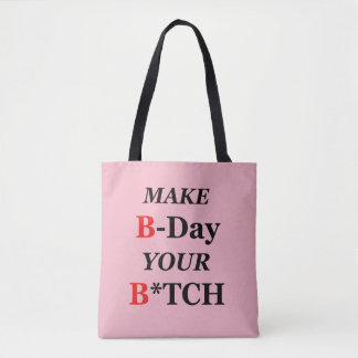 Funny, hilarious birthday gift tote bag