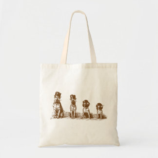 Funny Hilarious Bulldogs Vintage Tote Bag