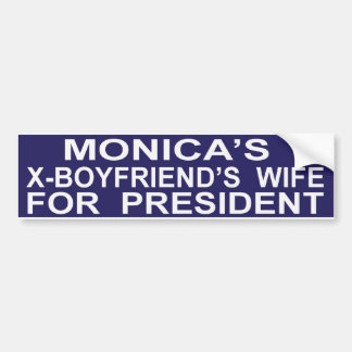 Funny Hillary Clinton for President Sticker