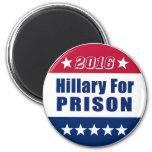 Funny | Hillary For PRISON | Election 2016 2 Inch Round Magnet