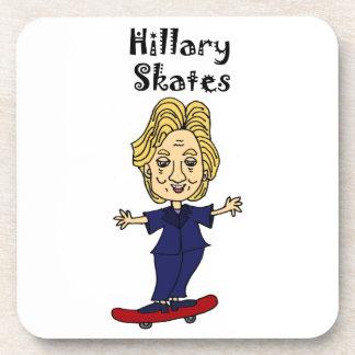 Funny Hillary Skates anti Hillary Political Art Beverage Coaster
