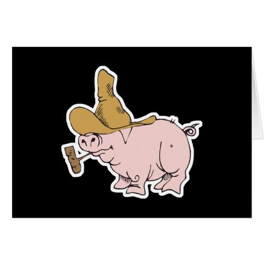 funny hillbilly pig card