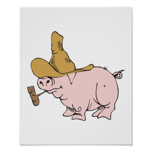 funny hillbilly pig print
