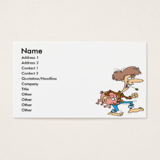 funny hillbilly redneck with pig cartoon business card