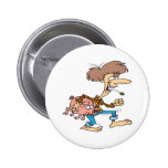 funny hillbilly redneck with pig cartoon pinback button