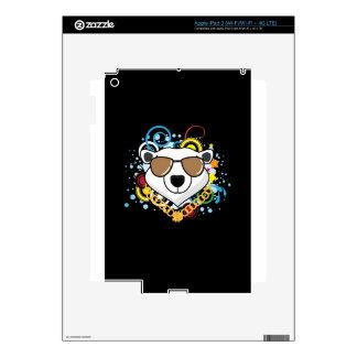 Funny Hip-Hop Polar Bear Picture iPad 3 Decal