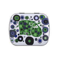 Funny Hippo Abstract Art Candy Tin