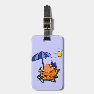 Funny Hippo at the Beach Tags For Bags