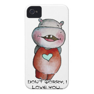 Funny Hippo iPhone 4 Case-Mate Cases