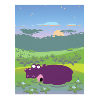 Funny Hippo Personalized Flyer