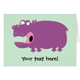 Funny Hippo Greeting Card