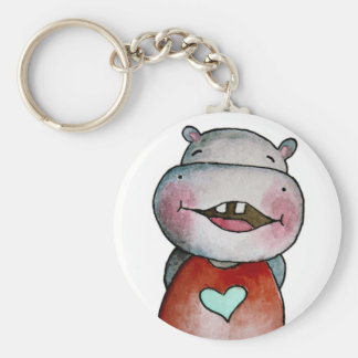 Funny Hippo Key Chain